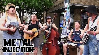 """GUNS N' ROSES """"Paradise City"""" Performed By STEVE 'N' SEAGULLS on SXSW Streets 