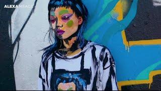 アート界に革新、キャンバスではなく人の上へ絵画を描いていくアレクサ・ミードの世界観
