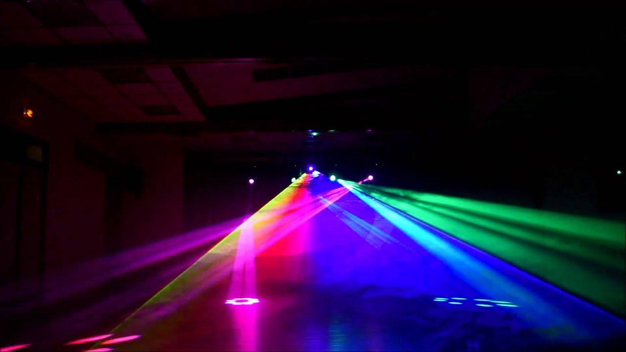 show lumineux laser multicouleur et lyres beam 7r youtube. Black Bedroom Furniture Sets. Home Design Ideas