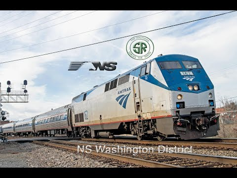 Amtrak and NS Action on the Washington District, 3 Day Raifanning!