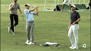 Collin Morikawa \u0026 Matthew Wolff Short Game Session | TaylorMade Golf