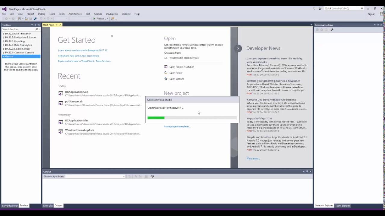 PDF VIEWER สร้างสร้างโปรแกรมอ่าน PDF ผ่าน DevExpress