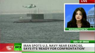Iran spots US Navy near drill,