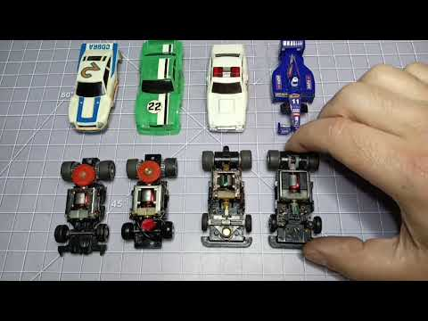 TCR Slot Car – Ideal MK1 2 3 & 4 cars raced compared