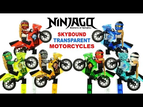 Ninjago Skybound Airjitzu Motorcycles UnOfficial LEGO KnockOff Set 34 DeCool w/ Lloyd Jay Kai & Zane