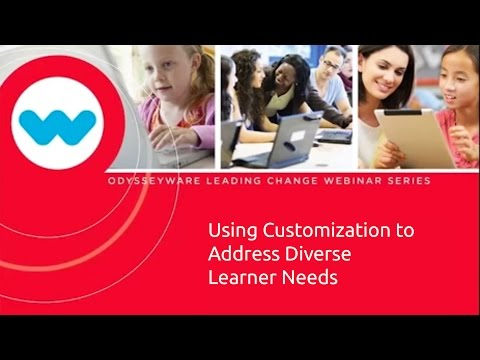 Using Customization to Address Diverse Learner Needs