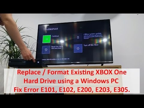 Replace / Format Existing XBOX One Hard Drive using Windows - Fix Error E101, E102, E200, E203, E305