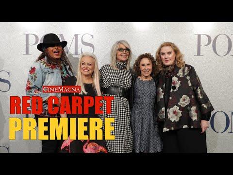 Poms Movie World Premiere - Diane Keaton, Celia Weston And More (2019)