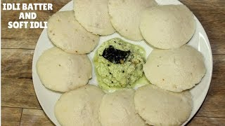 How to make Perfect Idli Dosa Batter & Soft and Spongy Idli | Idli Batter Recipe | Soft Idli Recipe