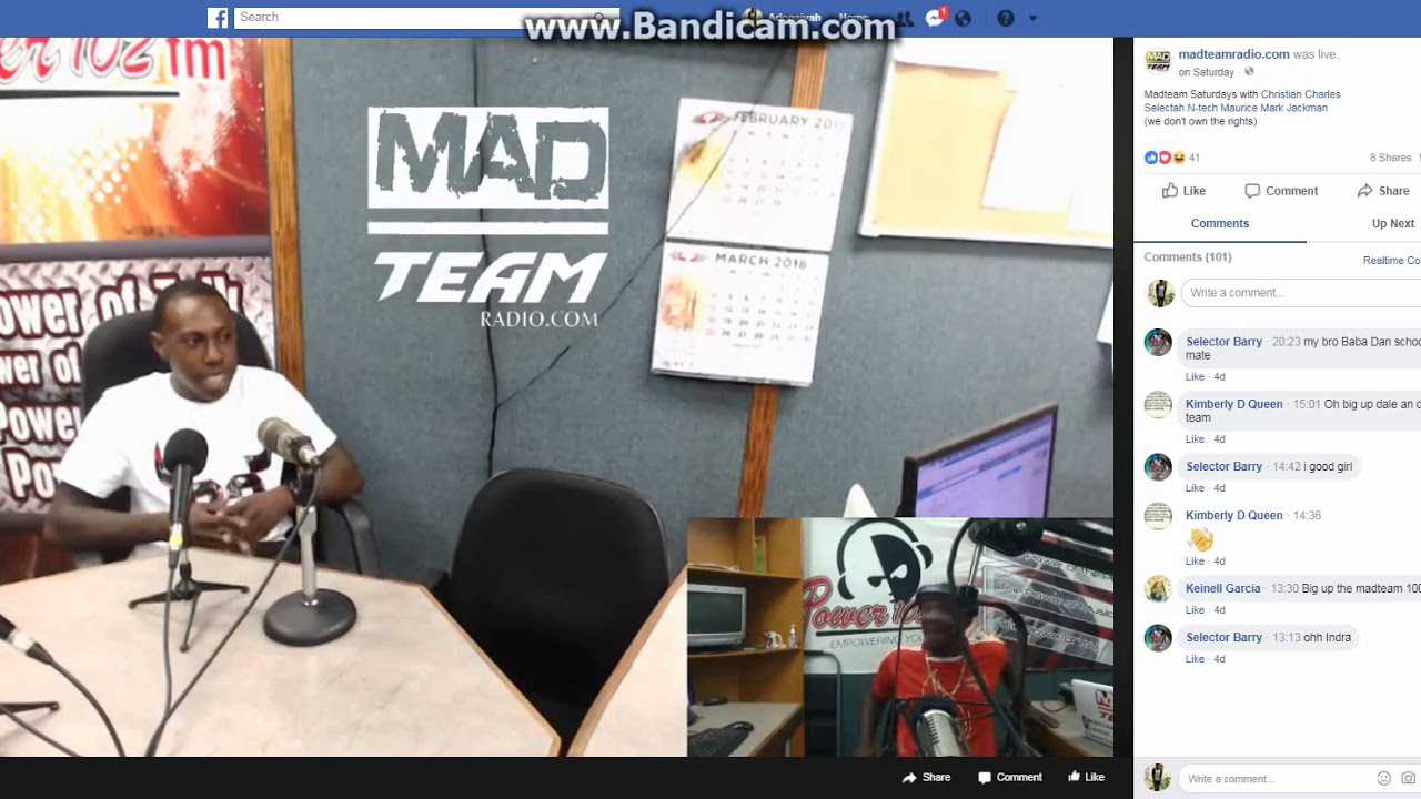 Adonaiyah Interview On Power 102.1 With The Mad Team Pt3