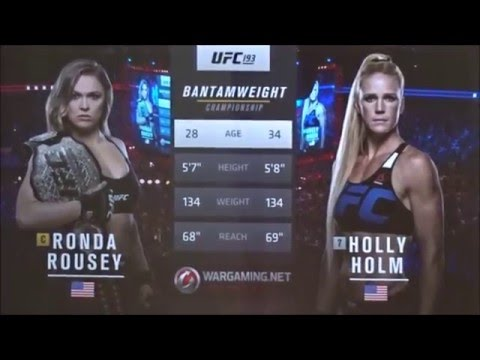 UFC 193 Rousey vs Holm Bruce Buffer announcement