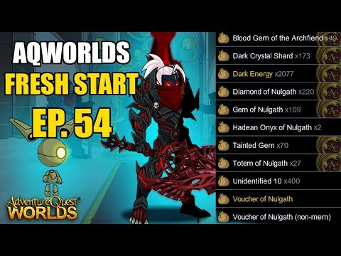 AQW Fresh Start Episode 54 - INSANE NULGATH FARMING! Adventure Quest Worlds