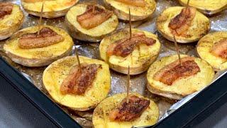От такой картошки в духовке не откажется никто Паруса Картофель с Салом запеченный в Духовке