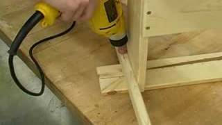 How To Make An Adirondack Side Table : Installing The Top Slats Of An Adirondack Side Table