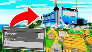 Playing on a *SECRET* Fortnite World in Minecraft Pocket Edition!