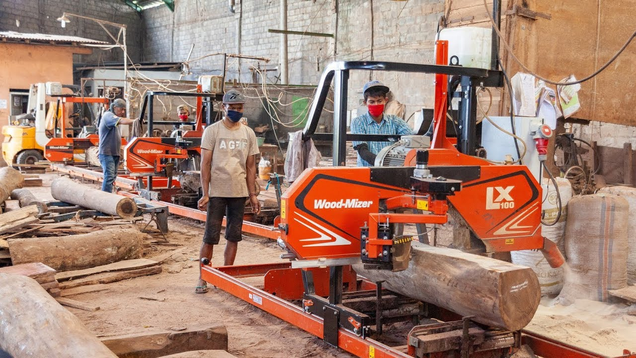 LX100 Heavy-Duty Sawmill Cutting Rosewood & Teak in Surakarta, Indonesia by  Wood-Mizer Europe