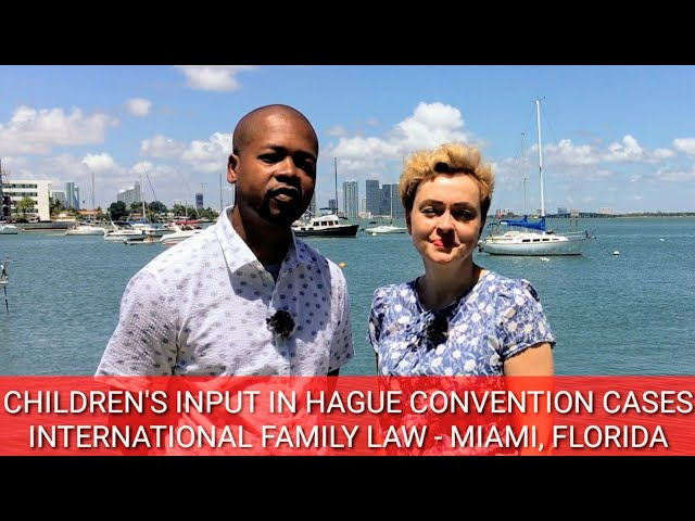 CHILDREN'S INPUT IN HAGUE CONVENTION CASES (MIAMI, FL) - International Family Law