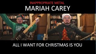 "Mariah Carey ""All I Want for Christmas Is You"" Metal Guitar Cover"