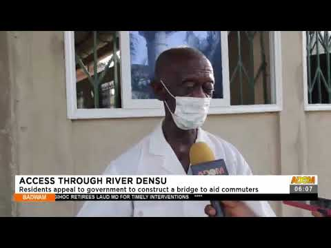 Residents appeal to government to construct a bridge to aid commuters-Adom TV (19-7-21)