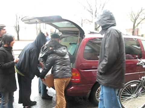 """Food For Life""-prasadam distribution at homeless shelters-ISKCON Toronto March 29/2009"