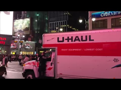 United States Secret Service Police Using A Uhaul Truck To Haul Extra Gear For Pope Francis Security