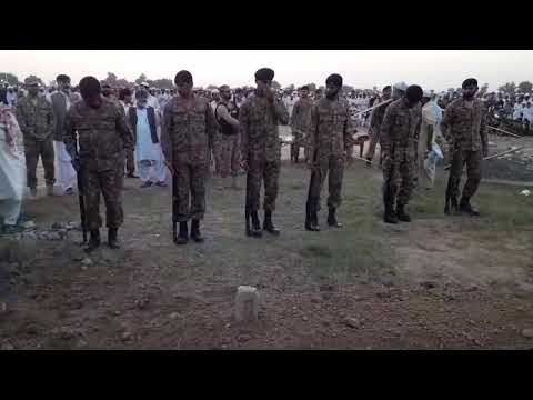 Pak Army Intelligence Officer (ISI Agent) Mumtaz Khan's funeral on 30th September, 2017