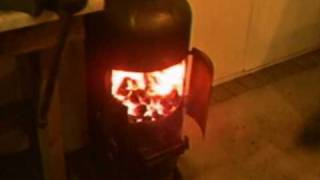 Luke's Wood Burning Stove Fitted In His Garage. Petethewrist