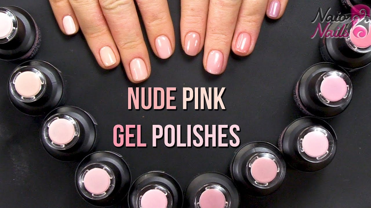 Nude Pink Gel Polish - Brand New - Naio Products - YouTube