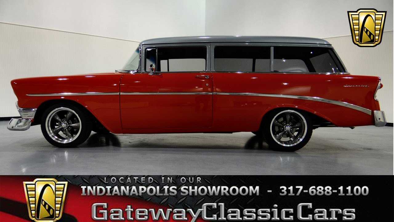 1955 chevrolet handyman 2 door wagon street rod - 1956 Chevrolet 210 Handyman Wagon Gateway Classic Cars Indianapolis 254 Ndy Youtube