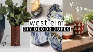 RECREATING EXPENSIVE WEST ELM ROOM DECOR ✨ DIY Decor Dupes for LESS!