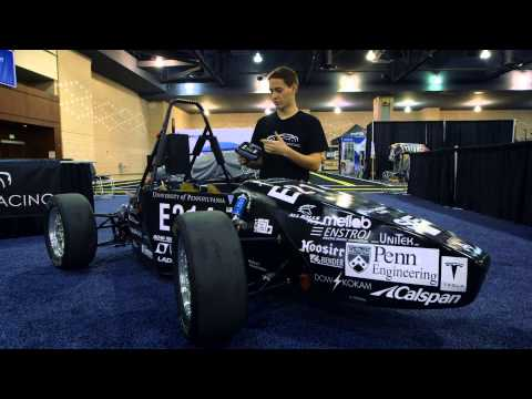 Penn's electric racecar revs up Philly Auto Show