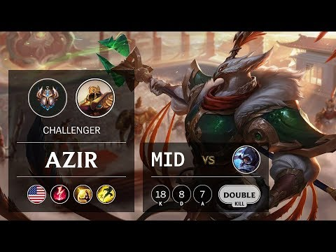 Azir Mid vs Talon - NA Challenger Patch 9.21