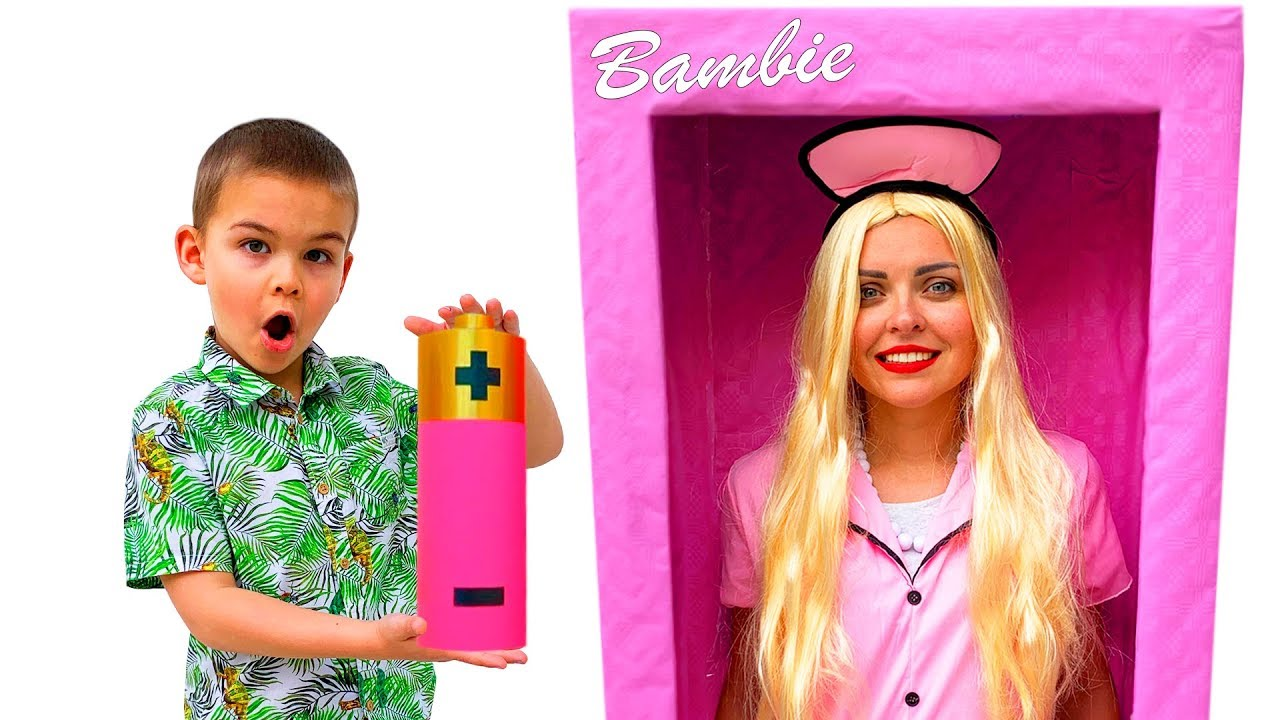 Dima play with Bambie Doll