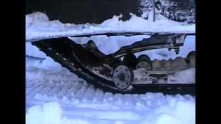 Bir snowmobile uchun ishlab chiqarish qurilma improvised