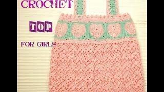☀☀☀ Как связать топ для девочки крючком #Knitting crochet top for girls