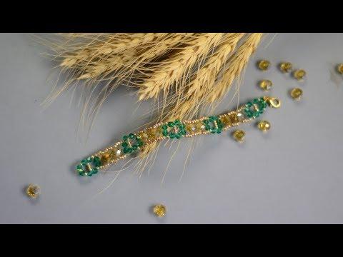 PandaHall Tutorial on Yellow and Green Electroplate Glass Bead Bracelet thumbnail