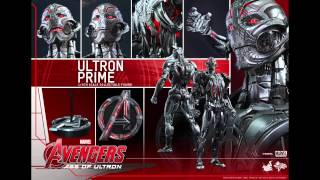 Avengers Age Of Ultron Hot Toys Ultron Prime 1/6 Scale Movie Figure Pics & Details!