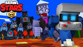 ROBO RUMBLE in MINECRAFT [BRAWL STARS ANIMATION] 브롤스타즈 MINECRAFT ANIMATION