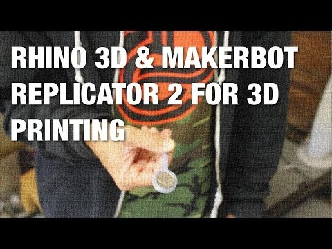 How I Design and 3D Print Parts with Rhino 3D and MakerBot Replicator 2 - The Magic Coin Paddle