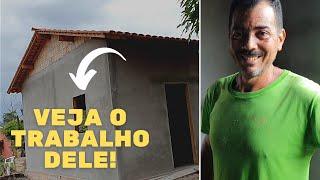 CONHEÇA O PEDREIRO DE SEU BATISTA E VEJA COMO A CASA ESTÁ FICANDO