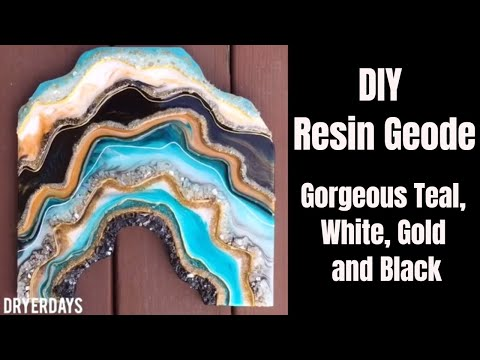 10. DIY FULL Tutorial Resin Geode