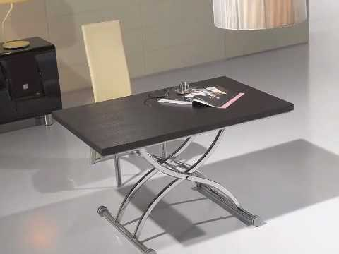 Table basse relevable eva wenge youtube for Table basse bois relevable