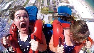 Girls Freaking Out #2   Funny Slingshot Ride Compilation