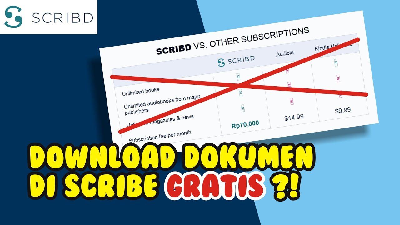 Cara Download Dokumen Skripsi Laporan Makalah Dan Lainnya Di Scribd Tanpa Bayar Gratis Youtube