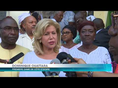 Madame Dominique Ouattara, au chevet de la famille du petit Bouba