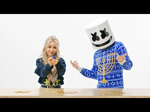 Marshmello & Wengie Teach You How To: Play Dreidel | Happy Hanukkah