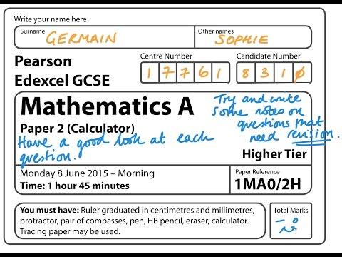 GCSE Maths Edexcel June 2015 2H Calculator (Complete Paper)
