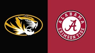 Week 7 2018 Missouri vs #1 Alabama Full Game Highlights