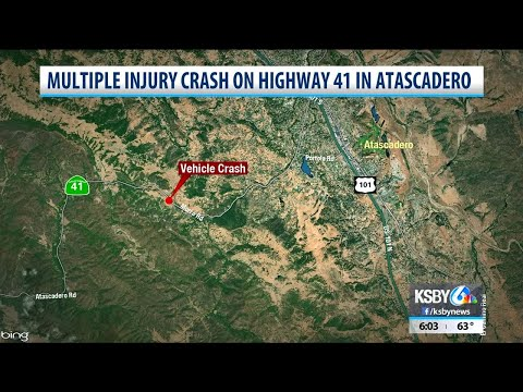 Driver pulled from head-on crash on Hwy 41 in Atascadero