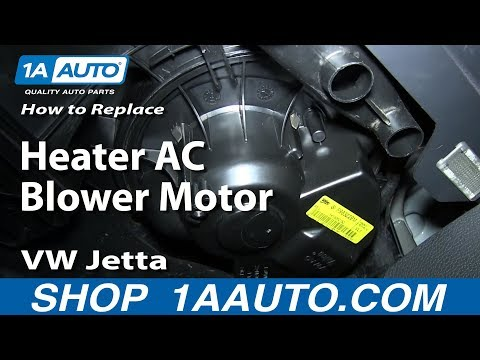 How to Replace Blower Motor with Fan Cage 05-08 Volkswagen Jetta